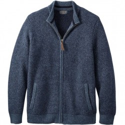 Pendleton Washable Wool Full Zip Sweater - Navy Heather