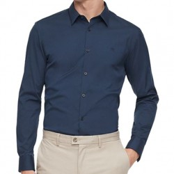 Calvin Klein Slim Fit Dress Shirt with Stretch - Total Eclipse Navy
