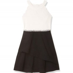 7 to 16 Girls Sleeveless Fit and Flare Party Dress