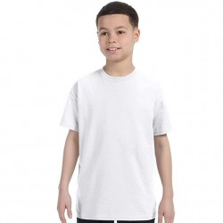 Boys 8 to 20 Short Sleeve Tagless Cotton T-Shirt - White