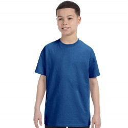 Boys 8 to 20 Short Sleeve Tagless Cotton T-Shirt - Deep Royal