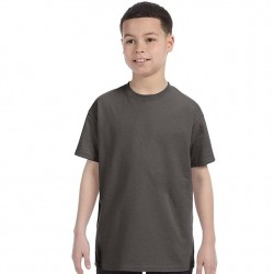 Boys 8 to 20 Short Sleeve Tagless Cotton T-Shirt - Smoke Grey