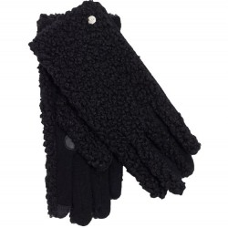 Shearling Gloves - Black