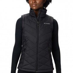 Columbia Heavenly Omni Heat Quilted Zip Vest - Black