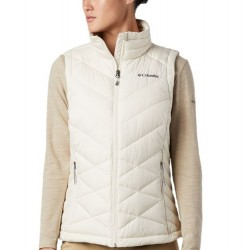 Columbia Heavenly Omni Heat Quilted Zip Vest - Chalk