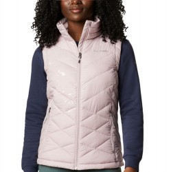 Columbia Heavenly Omni Heat Quilted Zip Vest - Mineral Pink