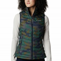 Columbia Powder Lite Omni Heat Quilted Zip Vest - Dark Nocturnal