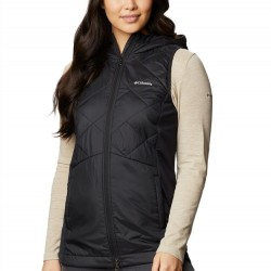 Columbia Piney Ridge Hooded Quilted Vest - Black