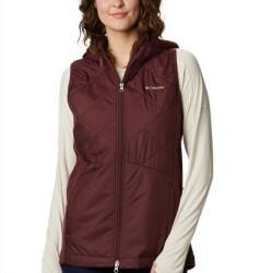 Columbia Piney Ridge Hooded Quilted Vest - Malbec