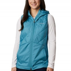 Columbia Piney Ridge Hooded Quilted Vest - Canyon Blue