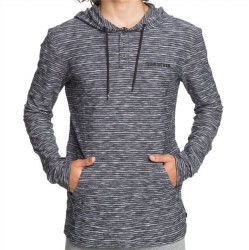 Quiksilver Lightweight Hooded Pullover - Black Stripe