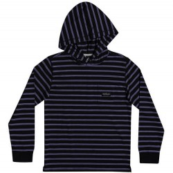 Boys 8 to 20 Quiksilver Light Weight Hooded Pullover - Black Stripe
