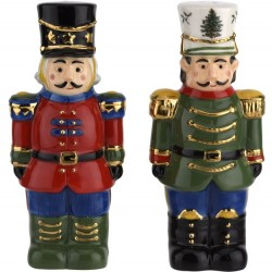"SPODE ""Christmas Tree"" Nutcracker Salt & Pepper Set"