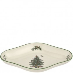 "SPODE ""Christmas Tree"" Diamond Shaped Dish"