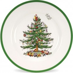 "SPODE ""Christmas Tree"" Set of 4 Dinner Plates"