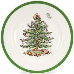 "SPODE ""Christmas Tree"" Set of 4 Salad Plates"