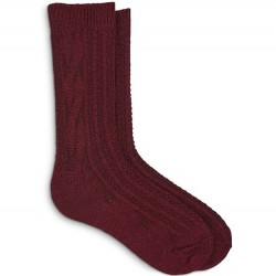 Hue Cable Boot Sock - Scarlet