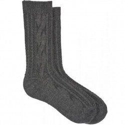 Hue Cable Boot Sock - Steel