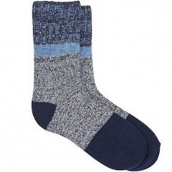 Hue Supersoft Marled Boot Sock - Navy/Blues