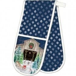 Michel Design Works Christmas Snow Double Oven Glove