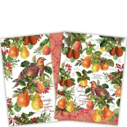 Michel Design Works In A Pear Tree Kitchen Towels Set of 2