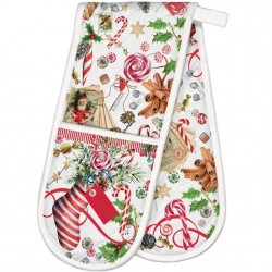 Michel Design Works Peppermint Double Oven Glove