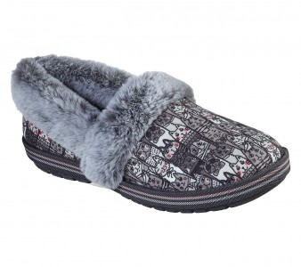 Skechers BOBS Too Cozy - Chic Cat Style #33347 - Cat Multi