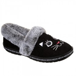 Skechers BOBS Too Cozy - Meow Pajamas Style #33355 - Black