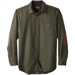 Pendleton Washable Wool Shirt with Round Tail - Peat Moss Mix