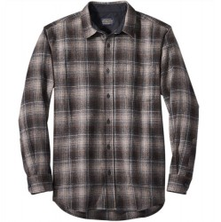 Pendleton Washable Wool Shirt with Round Tail - Tan/Black/Brown