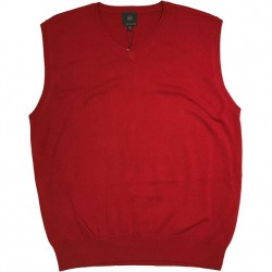 Pullover Sweater Vest - Red