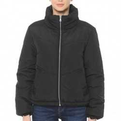 High Neck Quilted Matte Puffer Jacket