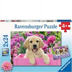 Ravensburger 2 x 24 pc Puzzles - Me and My Pal Puppies