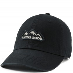 Life is Good Cap - Mountains in Black