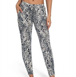 Animal Print Soft French Terry Jogger Pant
