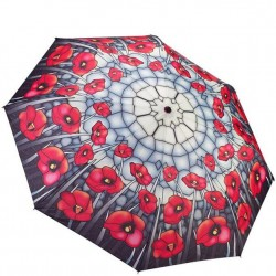 Galleria Umbrella - Stained Glass Poppies