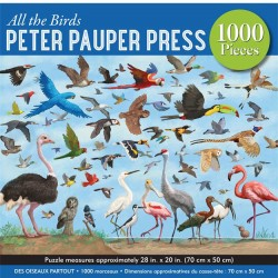 Peter Pauper 1000 pc Puzzle - All The Birds