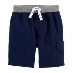 Toddler Boys Carters Navy Pull-On Cargo Shorts