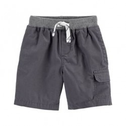 Toddler Boys Carters Grey Cargo Pull-On Shorts