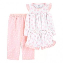 Toddler Girls Carters 3-Piece Heart Print Loose Fit PJs