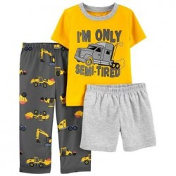 Toddler Boys Carters 3-Piece Construction Loose Fit PJs