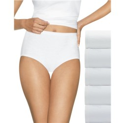 Hanes Ultimate Comfort Cotton Briefs - 5 Pack White