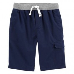 4 to 7 Boys Carters Easy Pull-On Dock Shorts - Navy