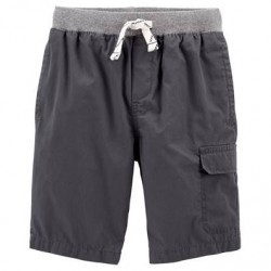 4 to 7 Boys Carters Easy Pull-On Dock Shorts - Grey