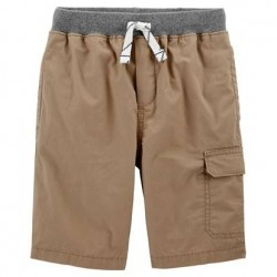 4 to 7 Boys Carters Easy Pull-On Dock Shorts - Khaki