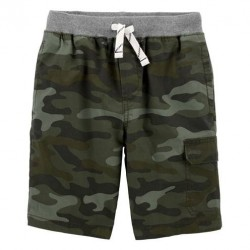 4 to 7 Boys Carters Easy Pull-On Dock Shorts - Camo