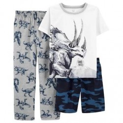 4 to 7 Boys Carters 3-Piece Loose Fit Dinosaur PJs