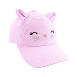 Carters Pink Kitty Face Baseball Hat