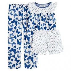 4 to 6X Girls Carters 3-Piece Butterfly Loose Fit PJ Set