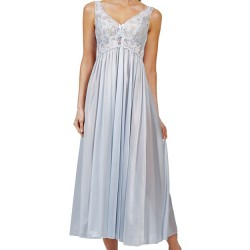 Satin Lace Silver Nightgown